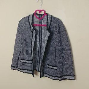 Ann Taylor knit Chanel style jacket blazer cardi